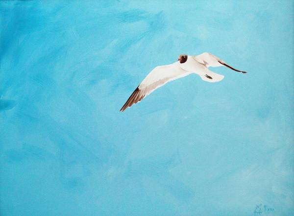 Bird Art Print featuring the painting Loner by Scott Alcorn