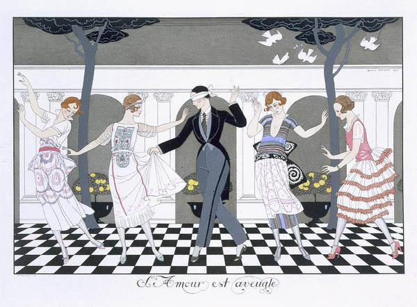 Print Art Print featuring the painting Love Is Blind by Georges Barbier