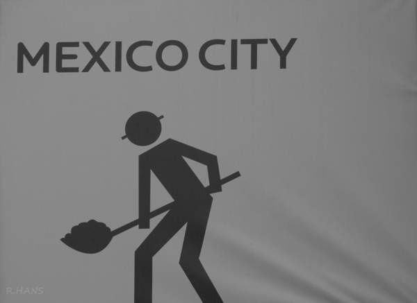 Mexico City Art Print featuring the photograph Mexico City In Black And White by Rob Hans