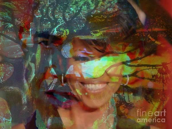 Fania Simon Art Print featuring the painting Michelle Barack And Baobab by Fania Simon