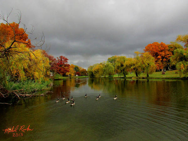 Michigan Art Print featuring the photograph Michigan Autumn by Michael Rucker