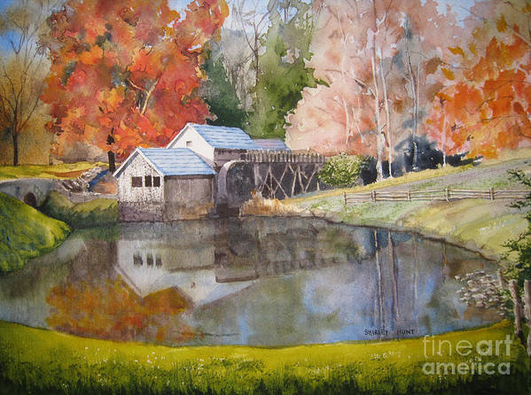 Landscape Art Print featuring the painting Mill Pond by Shirley Braithwaite Hunt