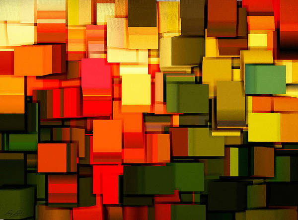 Abstract Art Print featuring the digital art Modern Abstract I by Lourry Legarde