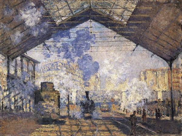 Horizontal Art Print featuring the photograph Monet, Claude 1840-1926. The Gare St by Everett