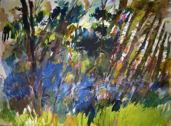Landscape Art Print featuring the painting Montana Brushwood by Dale Jorgensen