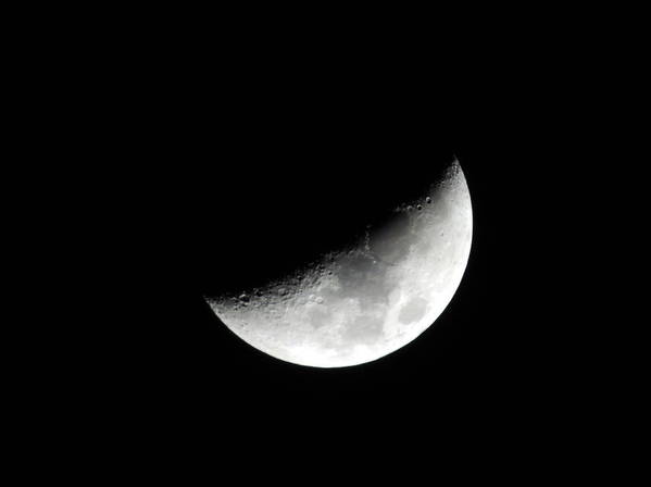 Night Art Print featuring the photograph Moon by Cathy Jourdan