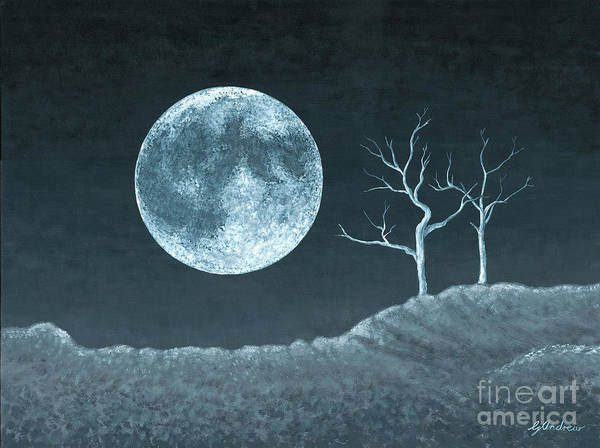 Moon Art Print featuring the painting Moon Worship by Gareth Andrew