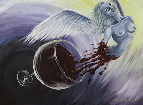 Flying Art Print featuring the painting My Resurrection by Borg Queen
