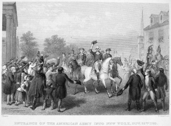 1783 Print featuring the photograph New York: Washington, 1783 by Granger