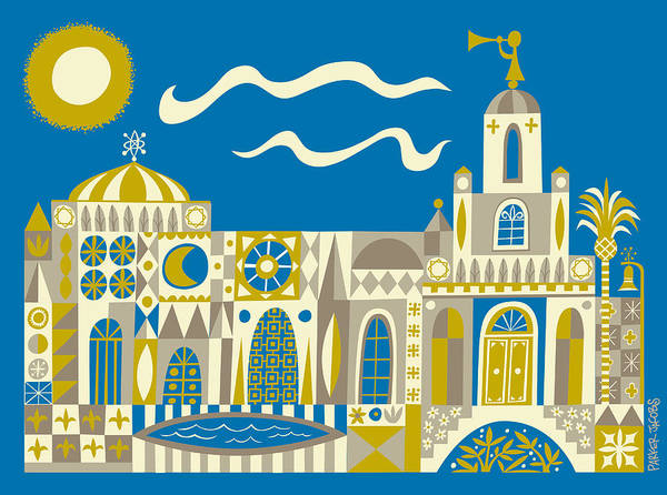 Lds Art Print featuring the digital art Newport Beach Temple by Parker Jacobs