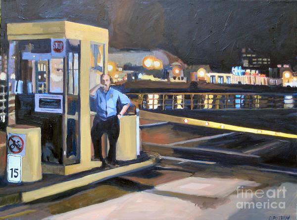 Boston Art Print featuring the painting Nightguard by Deb Putnam