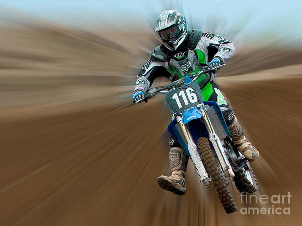 Dirt Bike Art Print featuring the photograph Motorcross No. 116 by Jerry Fornarotto