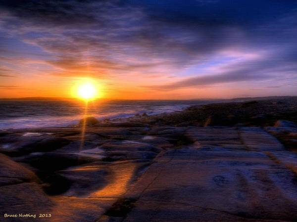 Sunset Art Print featuring the painting Norwegian Sunset by Bruce Nutting