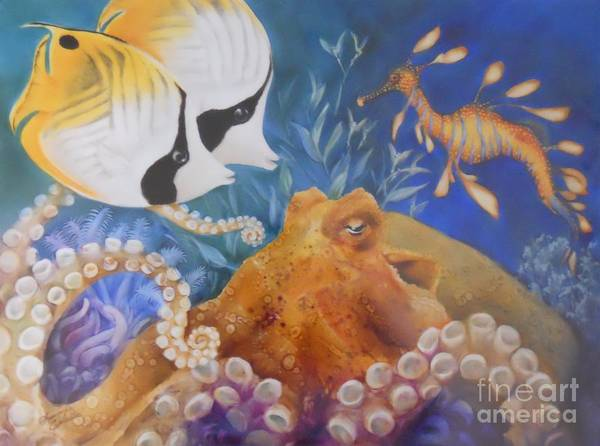 Ocean Art Print featuring the painting Ocean Hang Out by Summer Celeste