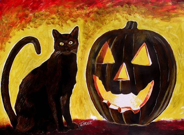 Halloween Art Print featuring the painting October by Jeremy Moore