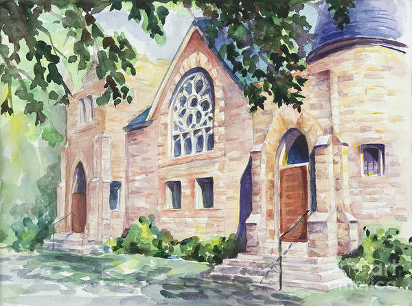 Buildings Print featuring the painting Old Church by Svetlana Howe