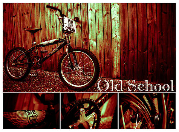 Bmx Art Print featuring the photograph Old School Bmx - Pk Collage Colour by Jamian Stayt