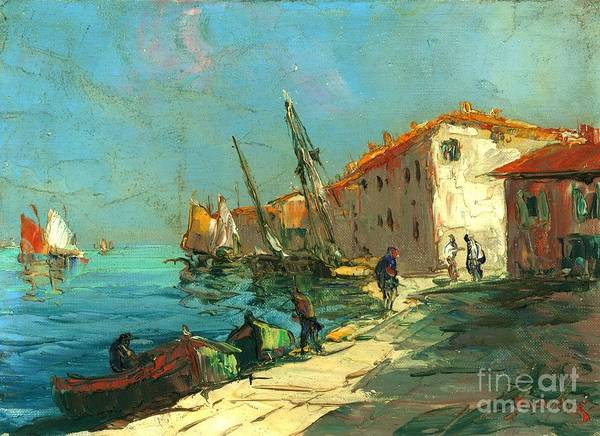 Harbour In France Art Print featuring the painting Plein Air Two by Michael Swanson