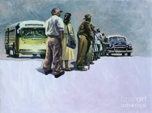 Rosa Parks Art Print featuring the painting Pools Of Defiance by Colin Bootman