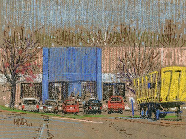 Primary Art Print featuring the drawing Primary Loading Docks by Donald Maier