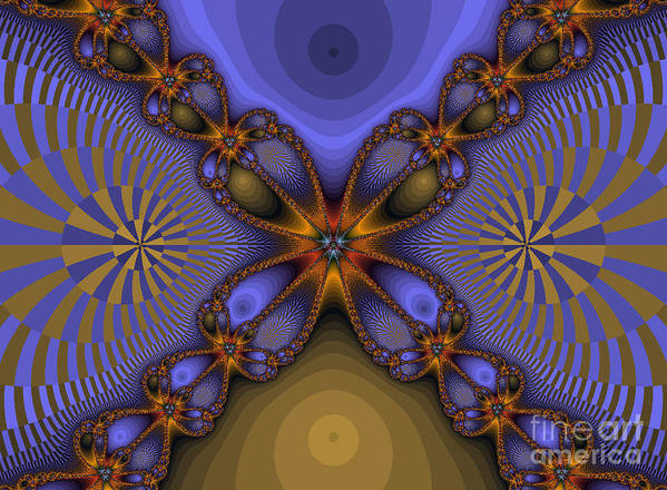 Fractal Art Print featuring the photograph Purple Flower Fractal by Darleen Stry