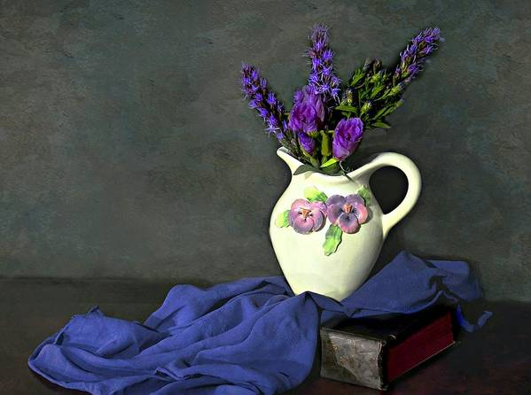 Still Life Art Print featuring the photograph Purple Pardon by Diana Angstadt