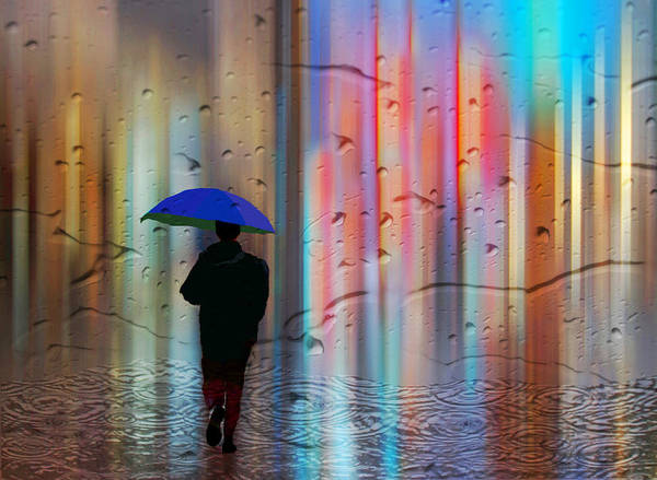 Rainman Art Print featuring the photograph Rainman - Parallels Of Time by Michele Broadfoot