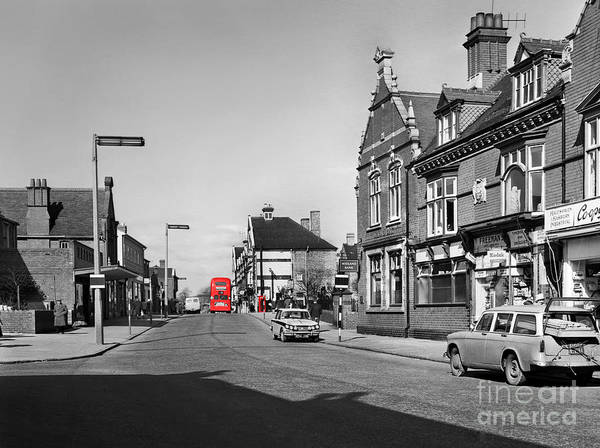 Hart Photography Art Print featuring the photograph Red Bus And Red Telephone Box - 1960's  Ref-124-2 by William R Hart