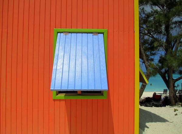 Caribbean Corner Print featuring the photograph Red Cabin by Randall Weidner