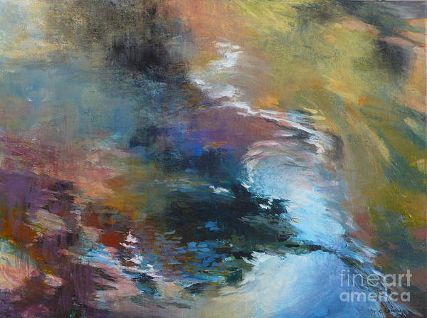 Water Art Print featuring the painting Ripples No. 2 by Melody Cleary
