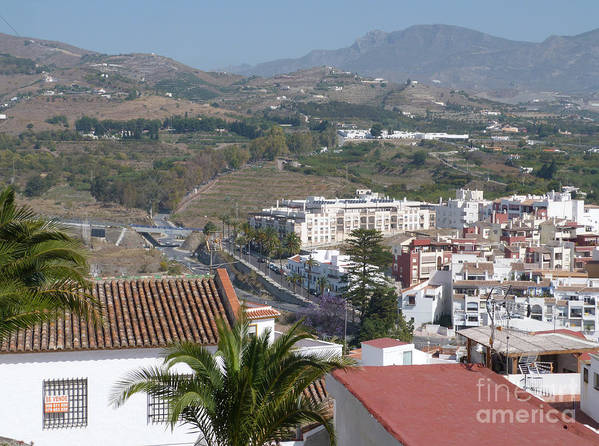 Salobrena Art Print featuring the photograph Salobrena Town View by Phil Banks