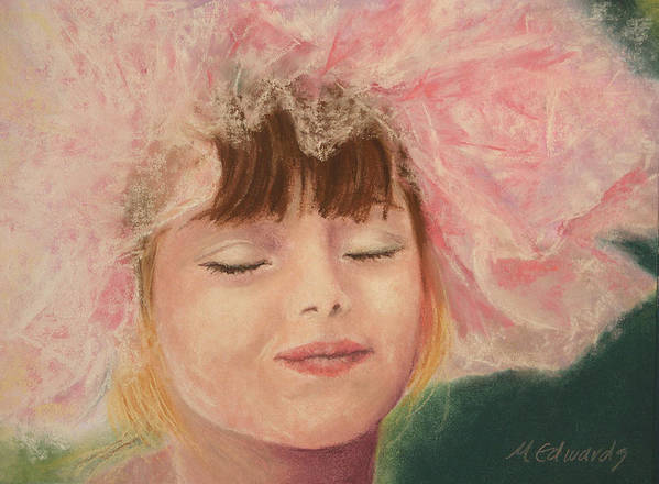Sassy Art Print featuring the pastel Sassy In Tulle by Marna Edwards Flavell
