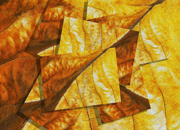 Digital Art Print featuring the painting Shades Of Autumn by Jack Zulli