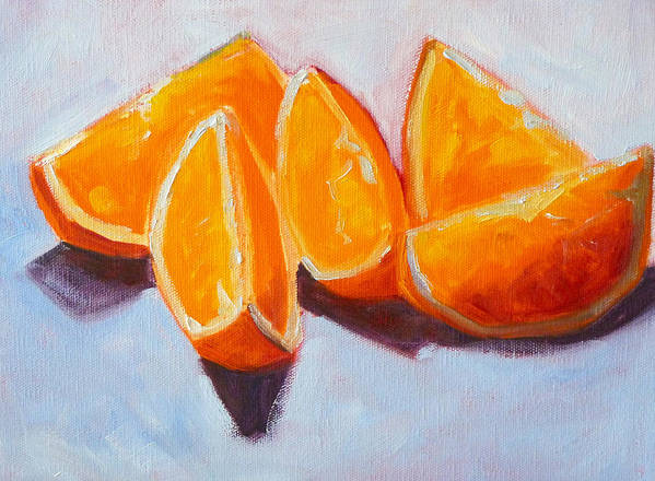 Citrus Art Print featuring the painting Sliced by Nancy Merkle