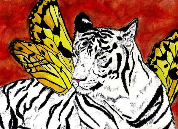 Tiger Art Print featuring the painting Soul Rhapsody by Crystal Hubbard