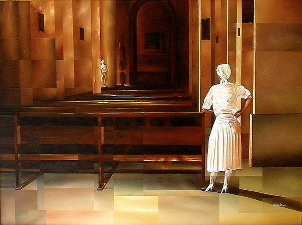 Indoors Art Print featuring the painting Spiritual Enlightenment by Laurend Doumba