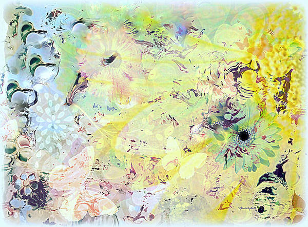 Flowers Art Print featuring the mixed media Spring Happiness by YoMamaBird Rhonda