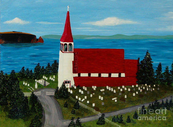 Barbara Griffin Art Print featuring the painting St.philip's Church 1999 by Barbara Griffin