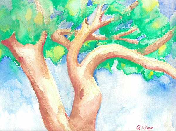 Tree Art Print featuring the painting Study Of A Tree by Angela Bingham