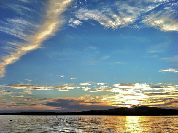Landscape Art Print featuring the photograph Sunset On Lake Wentworth by Richard Lent