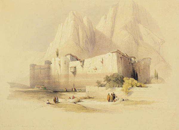 Landscape Print featuring the painting The Convent Of St. Catherine by David Roberts