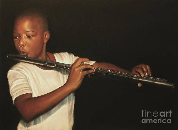 The Fifer I Art Print featuring the pastel The Fifer I by Curtis James