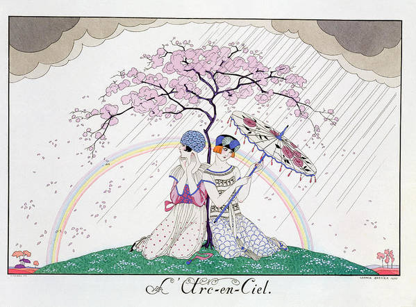 Print Art Print featuring the painting The Rainbow by Georges Barbier
