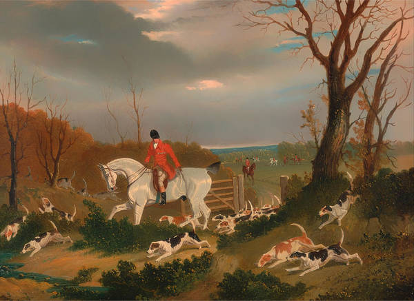 Painting Art Print featuring the painting The Suffolk Hunt by Mountain Dreams