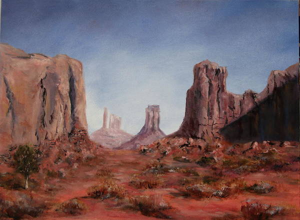 Arizona Art Print featuring the painting The Window by Thomas Restifo