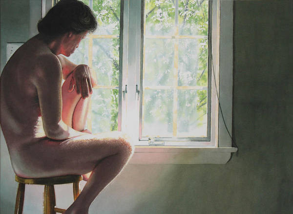 Male Art Print featuring the painting Time To Think by Denny Bond
