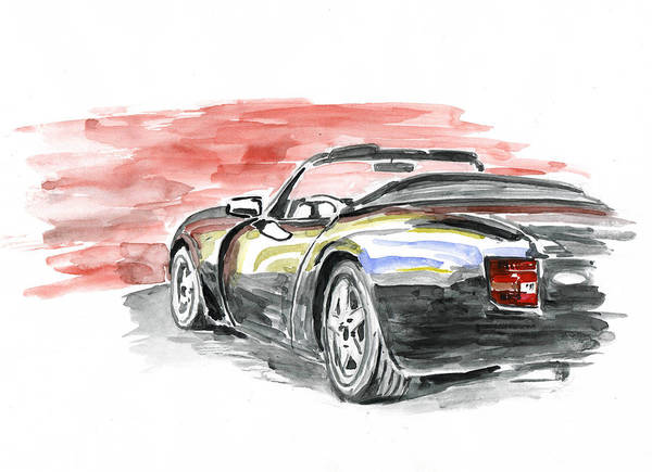 Auto Art Print featuring the painting Tvr Griffith by Ildus Galimzyanov