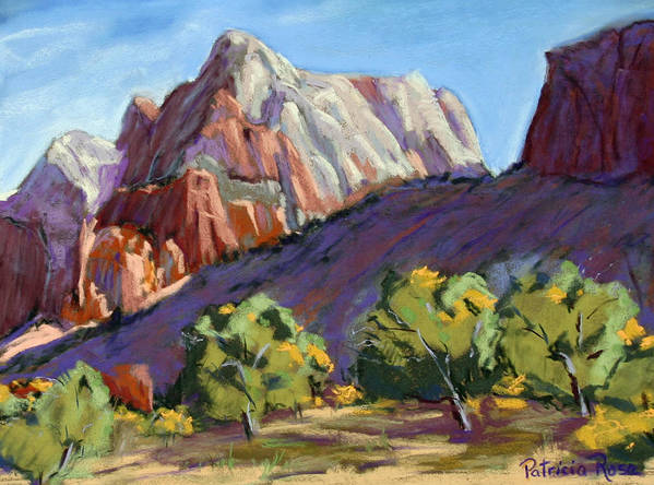 Early Morning Shadows Art Print featuring the pastel Twin Brothers Vista by Patricia Rose Ford