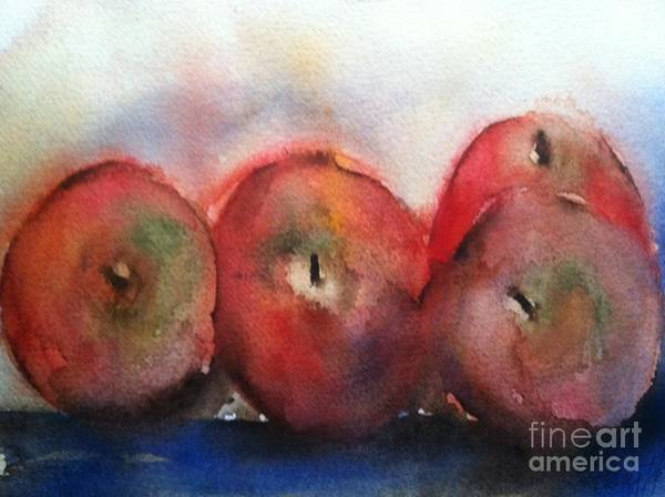 Orchards Art Print featuring the painting Two Pairs by Sherry Harradence