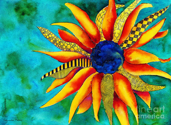 Earth Art Print featuring the painting Urchin by Shannan Peters